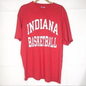 Red Indiana Basketball Champion shirt XL